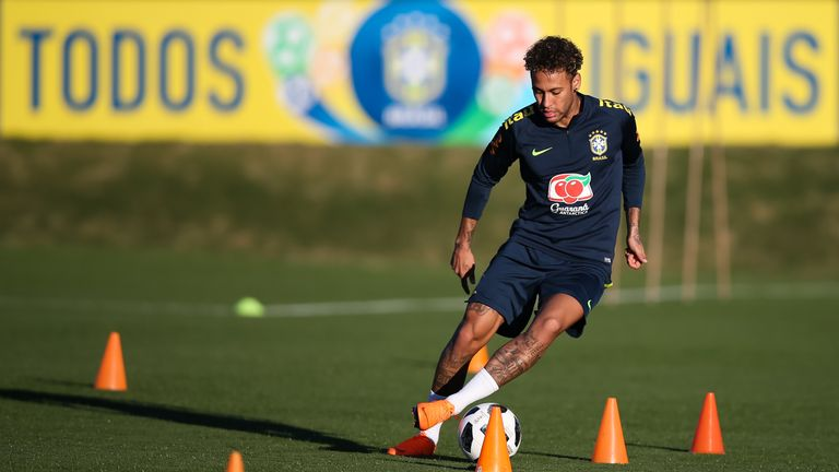The Paris Saint Germain forward was training in Teresopolis outside Rio de Janeiro