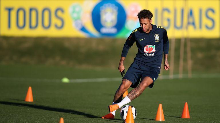 The Paris Saint-Germain forward was training in Teresopolis, outside Rio de Janeiro