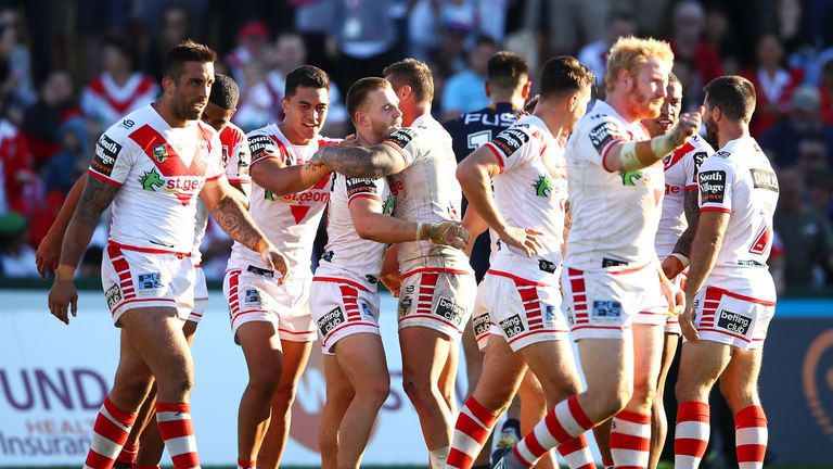 The Dragons' victory over Melbourne Storm last time out was their eighth NRL win from nine games