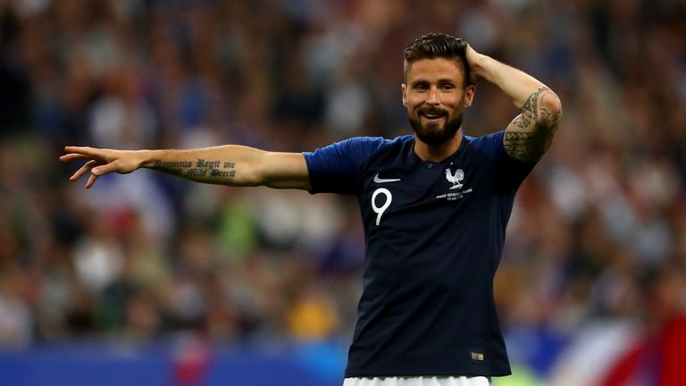 Olivier Giroud is set to feature for France in Russia