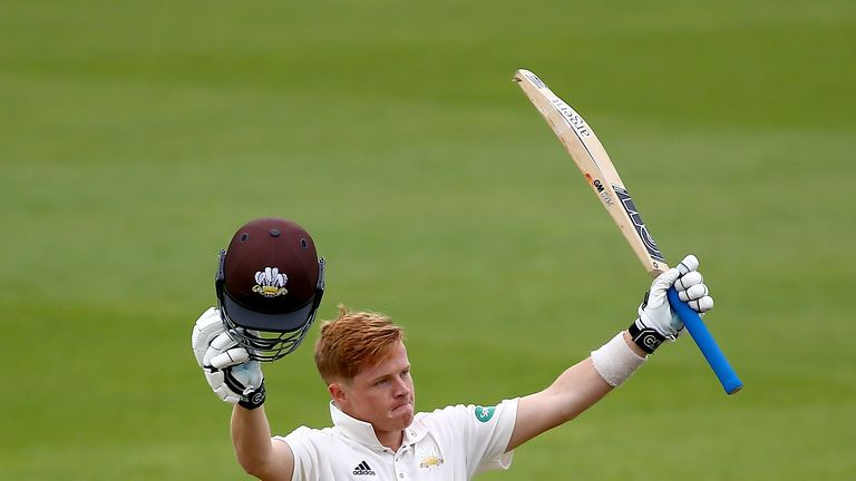 Surrey batsman Ollie Pope hit a career-best 158 not out on day two against Yorkshire