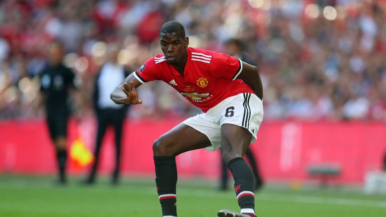 Pogba has returned to United after his World Cup exploits