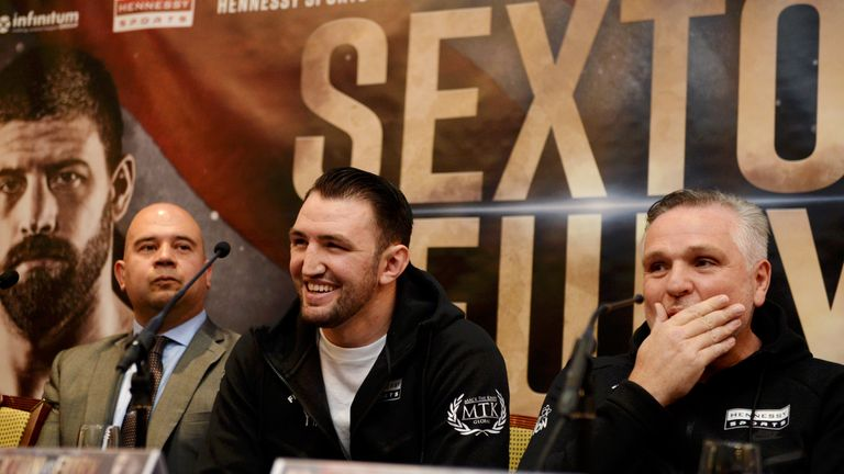 Peter Fury is pleased with Fury's preparations for Sexton