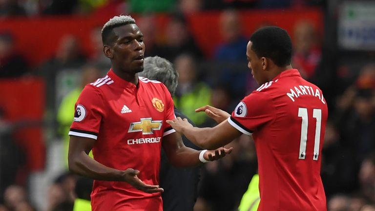 There is speculation over whether Paul Pogba and Anthony Martial will stay at United