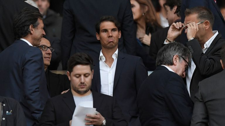Nadal was invited by Atletico Madrid to attend the crunch semi-final second leg