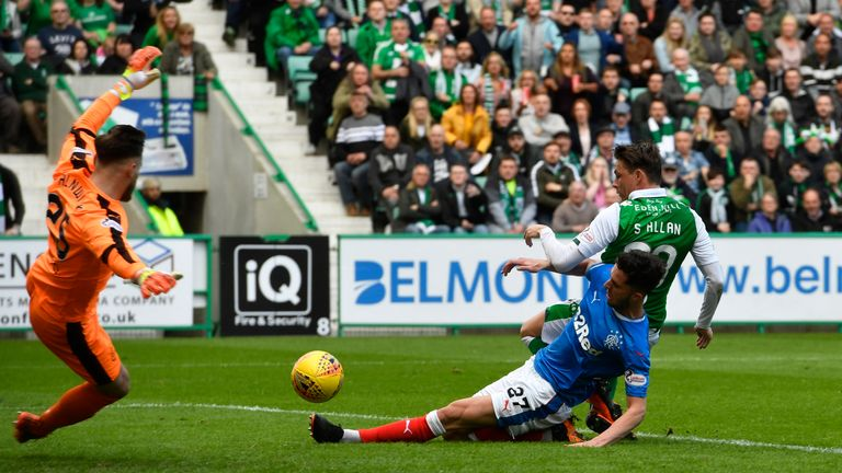 Scott Allan scores to put Hibernian 2-0 up