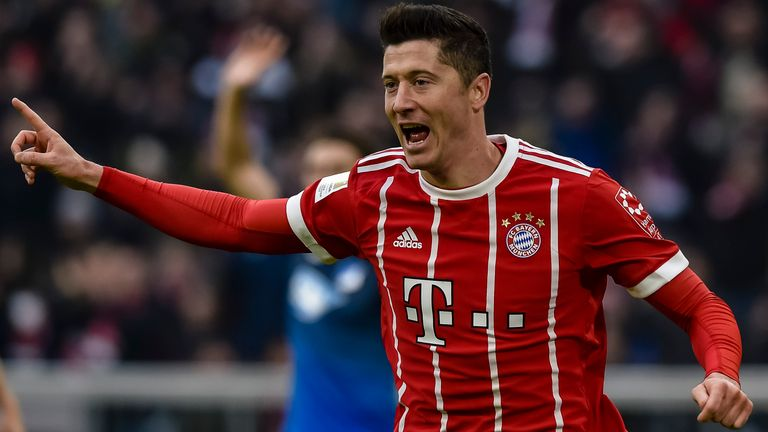 Robert Lewandowski has scored 106 goals in 125 league games for Bayern Munich