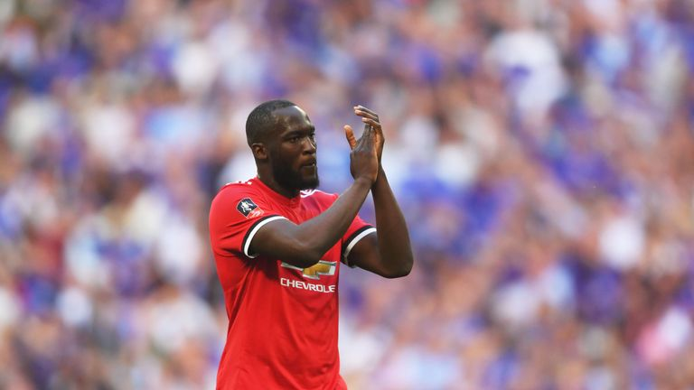 Romelu Lukaku came off the bench in the FA Cup final, which Man Utd lost 1-0 to Chelsea