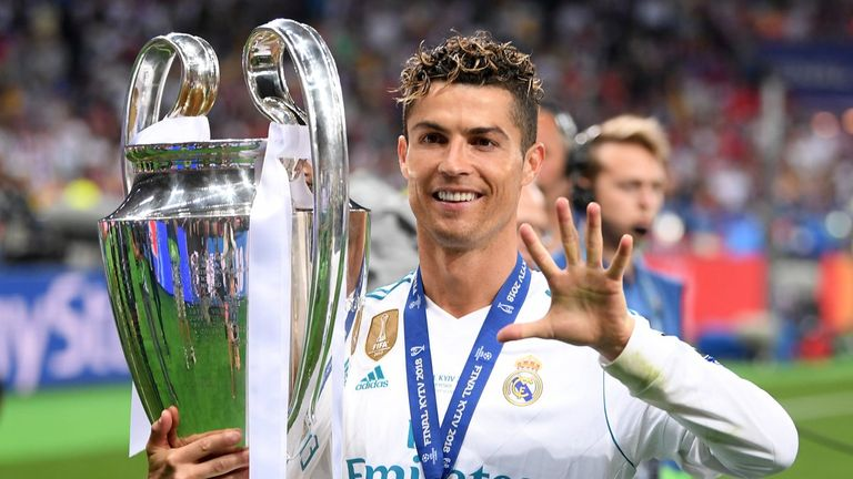 Cristiano Ronaldo has won the Champions League on five occasions, four with Real Madrid