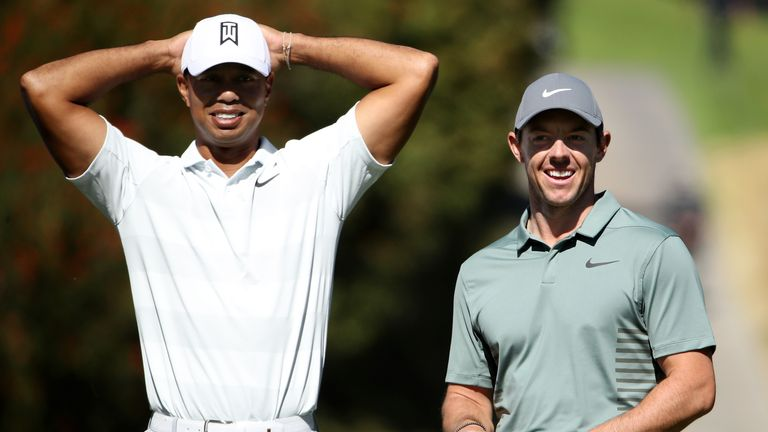 Rory McIlroy believes Tiger Woods has inspired the US dominance of golf's major titles