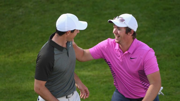 Sam Horsfield and Rory McIlroy 'had a lot of fun' during the third round of the BMW PGA Championship