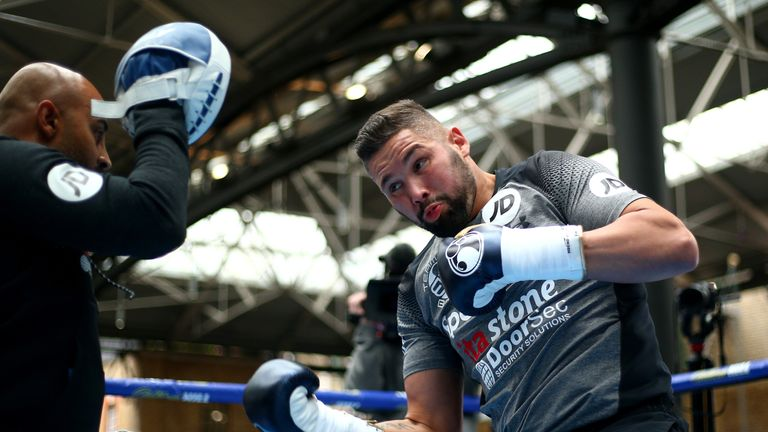 Bellew showed off hand speed with trainer David Coldwell