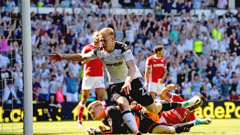 Vydra scored his 21st goal of the season against Barnsley