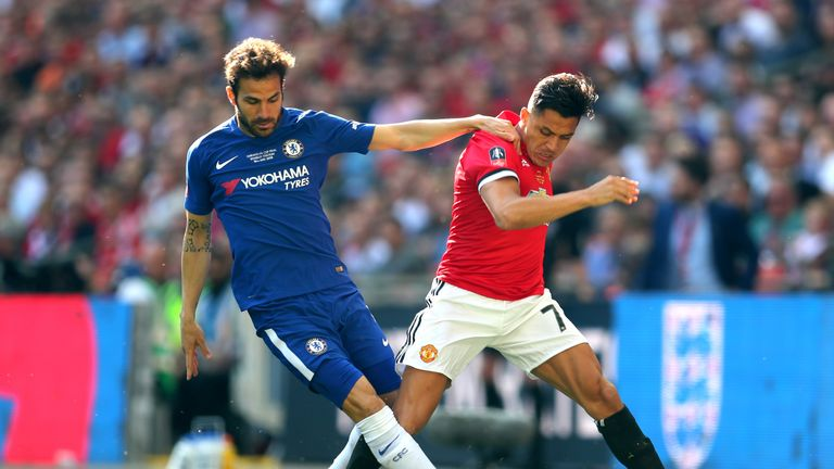 during The Emirates FA Cup Final between Chelsea and Manchester United at Wembley Stadium on May 19, 2018 in London, England.