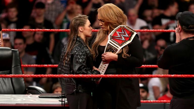Ronda Rousey competes for the Raw women's title at Money In The Bank next month