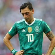 Mesut Ozil reacts to Germany's elimination from the 2018 World Cup