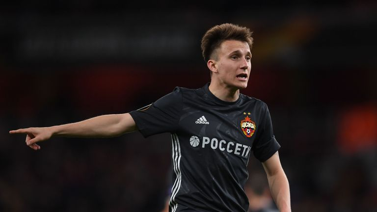 Aleksandr Golovin scored against Arsenal in the Europa League