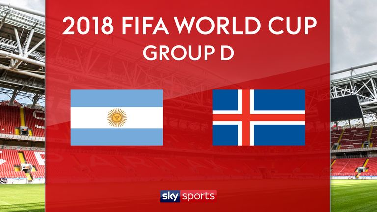 Argentina vs. Iceland in 2018 FIFA World Cup
