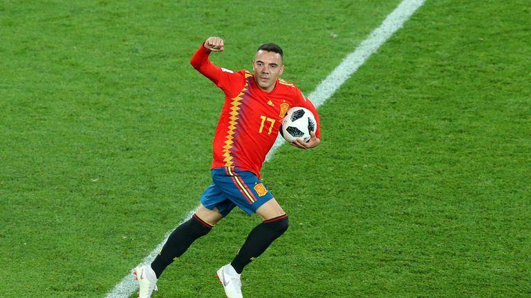 Iago Aspas scored a late equaliser for Spain
