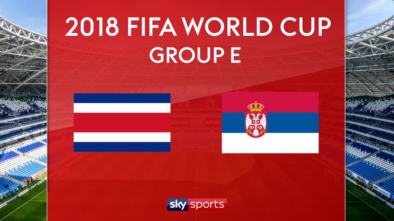 Costa Rica v Serbia starts at 1pm on Sunday