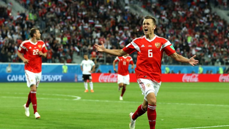 Denis Cheryshev starred for Russia at the World Cup