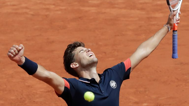 Dominic Thiem defeated Alexander Zverev to reach the semi-finals of the French Open