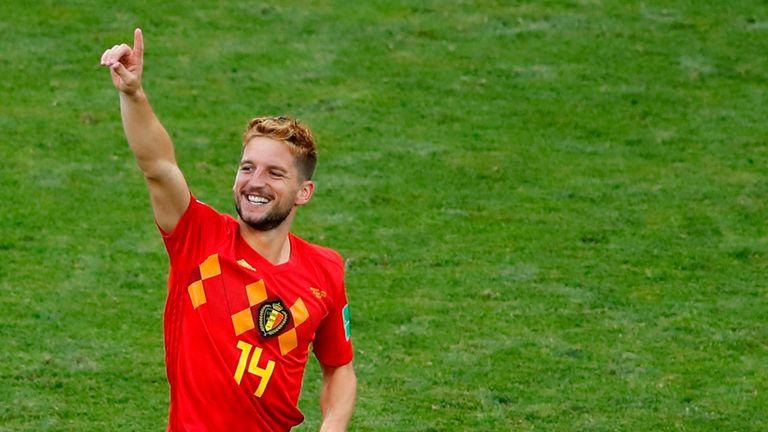 Dries Mertens celebrates his opening goal