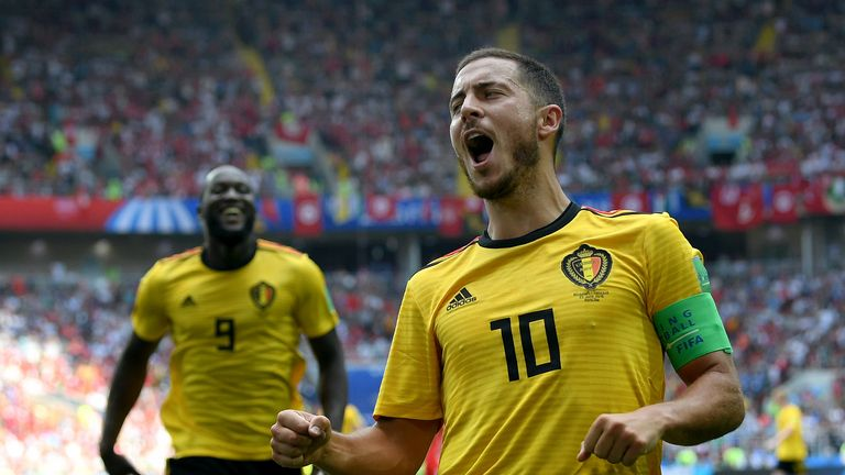 Eden Hazard's Belgium are currently behind England in the Group G table because they have a worse disciplinary record