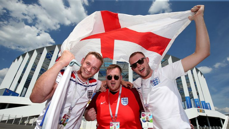 England fans are trying to get to Russia for the remainder of the tournament