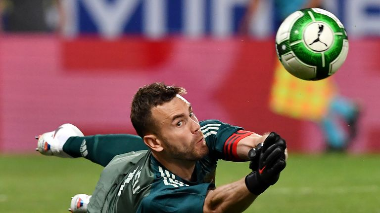 Igor Akinfeev will be a man under pressure for the hosts
