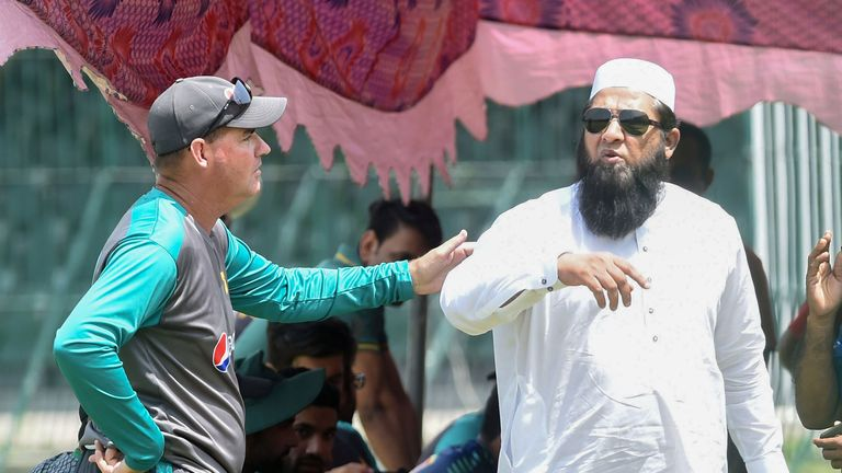 Pakistan head coach Mickey Arthur and chief selector Inzamam-ul-Haq