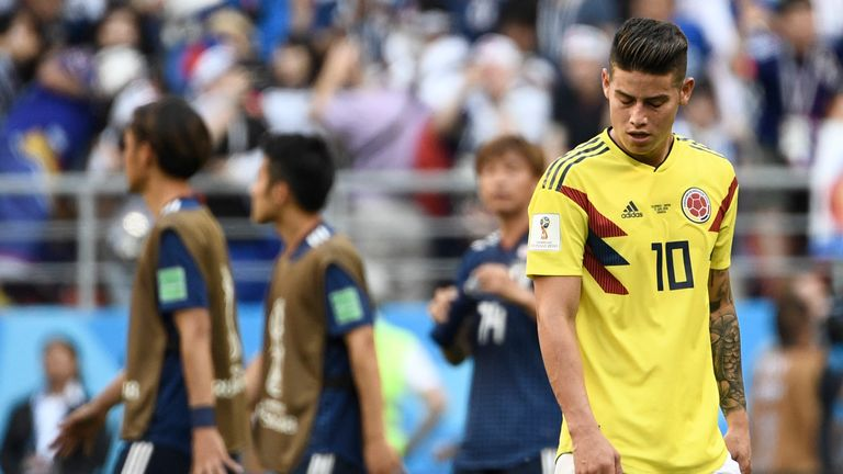 James Rodriguez came on for the final 30 minutes against Japan but is set to start against Poland