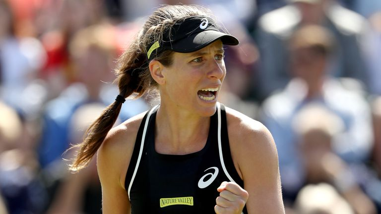 Johanna Konta into Nottingham semis with win over Dalila Jakupovic