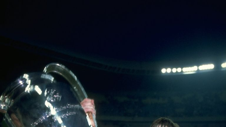Dalglish with the European Cup