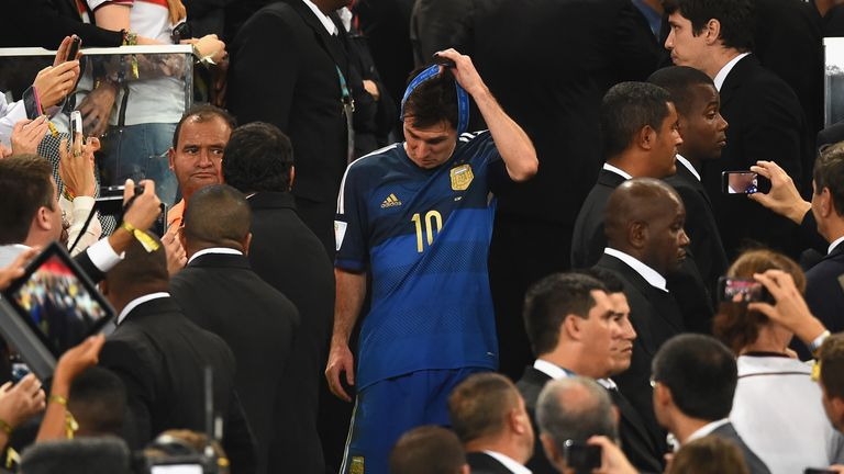 Despite losing the final in 2014, Messi did win the Golden Ball