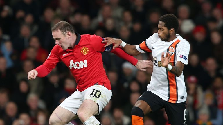 Fred played against United at Old Trafford for Shakhtar in 2013