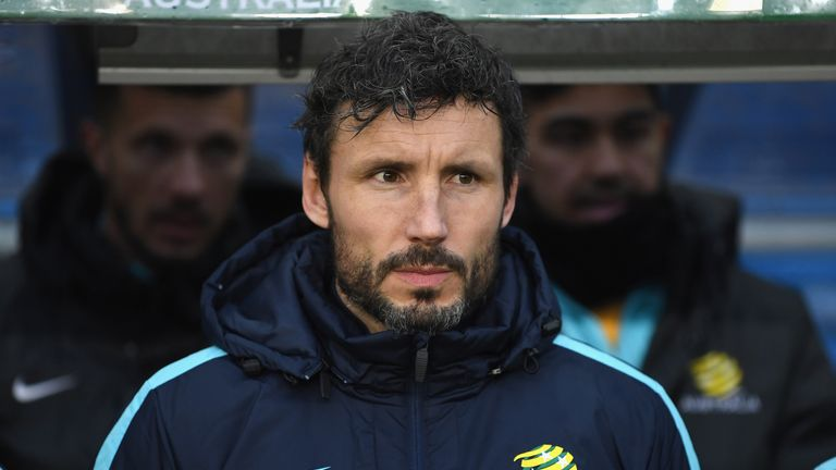 Mark van Bommel is at the World Cup in his role as Australia's assistant manager