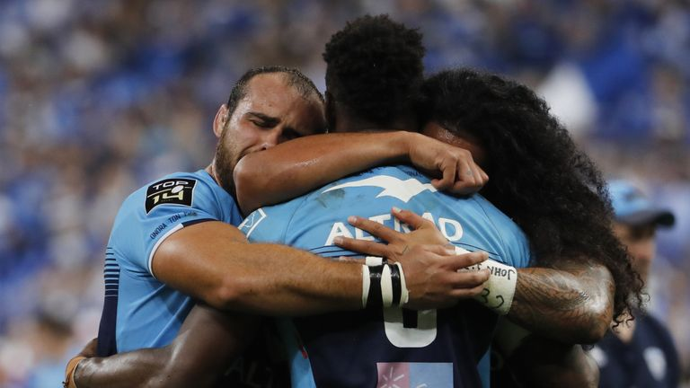 Dejected Montpellier players react following final defeat