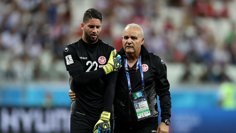 Mouez Hassen will play no further part at the 2018 World Cup