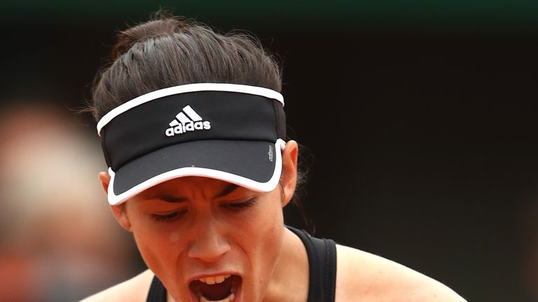 Garbine Muguruza eased to a comfortable straight-sets victory