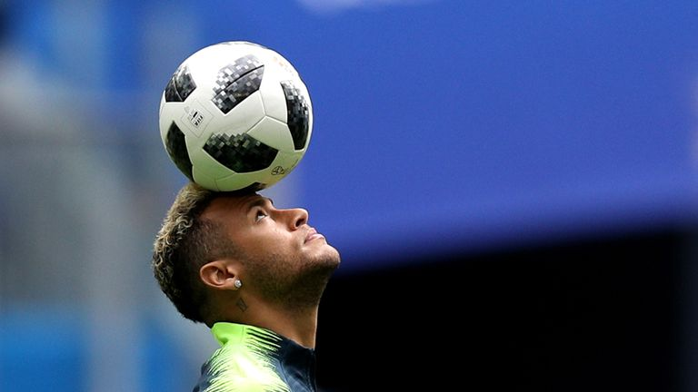 Neymar gets ready for Brazil's winner takes-all-clash with Serbia