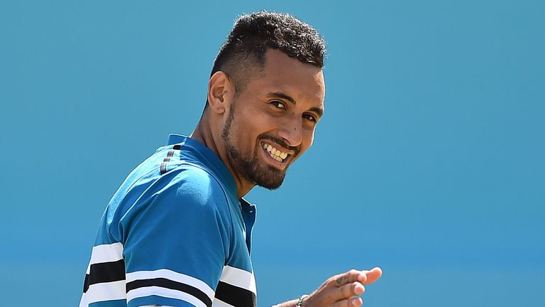 Nick Kyrgios simulates sex act during Queen's Club loss to Marin Cilic