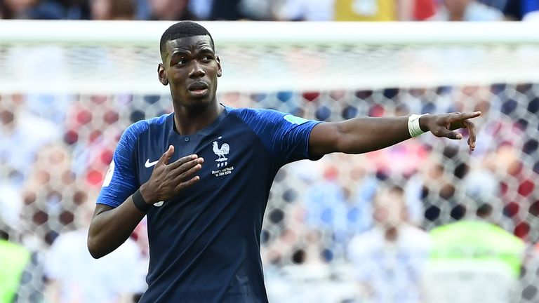 Paul Pogba was involved in both of France's goals against Australia