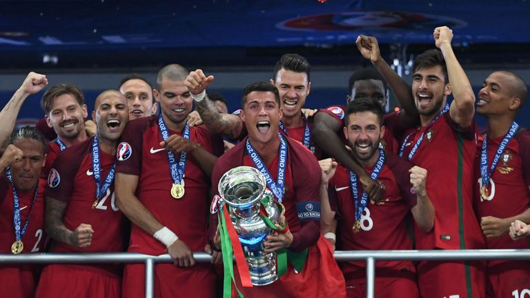 Cristiano Ronaldo captained Portugal to their maiden international trophy at Euro 2016.