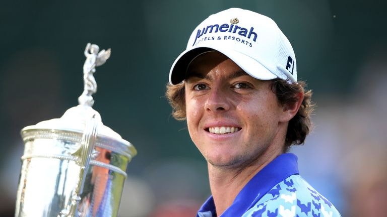 McIlroy is all smiles after winning the 111th US Open at Congressional Country Club in 2011
