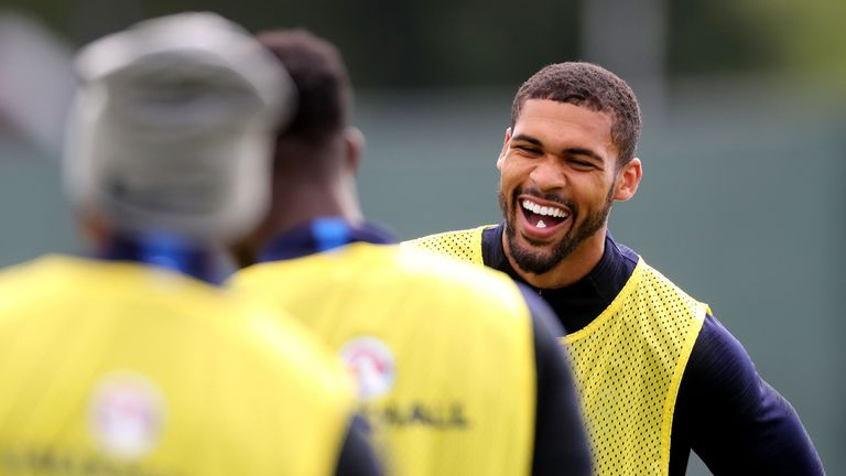 Loftus-Cheek in training with England's World Cup squad