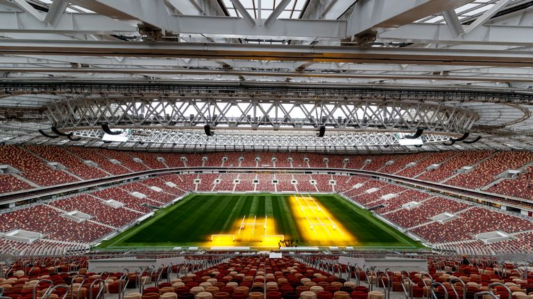 The Luzhniki Staidum in Moscow will host today's opening World Cup match