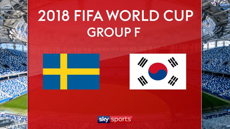 Sweden vs. South Korea in 2018 FIFA World Cup