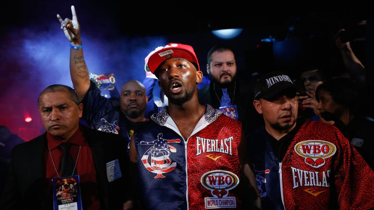 Terence Crawford ripped the WBO belt from Jeff Horn this month