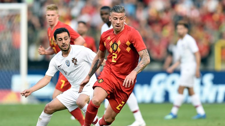 Alderweireld is at the World Cup with Belgium